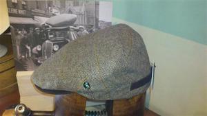 Gorra Lana-Cashmere 4 london-2571 (Con trabilla y visor en piel marrón)