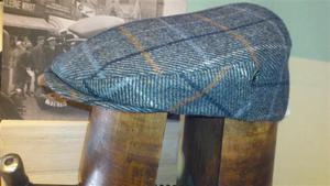 Gorra Lana-Cashmere 11london-2716 gris-cuadros perfilados