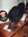 Sombrero fieltro negro plegable