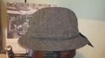 Sombrero modelo inglés HarrisTweed espiga verde