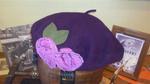 Boina Flor lana impermeable